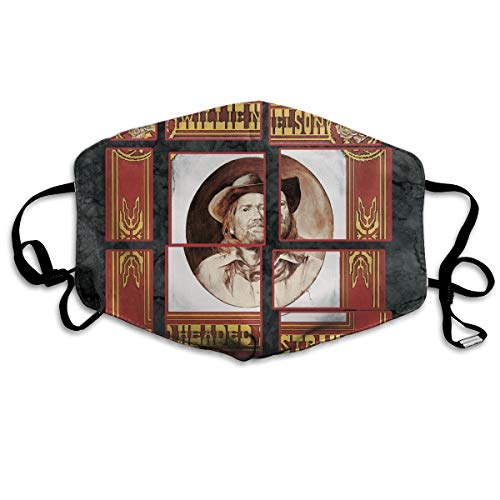 KIMBERLYBLAINE Willie Nelson Red Headed Stranger Mask Antidust Face Mouth Mask Reusable Cycling Masks