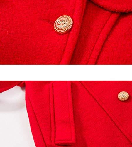 Modernas Mujer Manga Botonadura Solapa Bolsillos Largos Rot Parka Larga Invierno Outerwear Doble Cinturón Hipster Unicolor Con De Delanteros Gabardinas Outwear pq8vqdnw