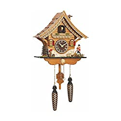 Quartz Cuckoo Clock Swiss house with music TU 4204 QM
