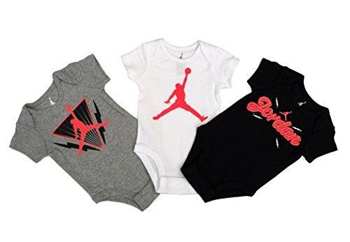 Nike Michael Jordan Infant Layette Bodysuit 3 Pcs Sets 3/6 Months