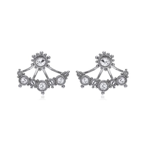 JUDITH RIPKA Santorini White Topaz Stud Earrings With White Topaz Earring Jackets