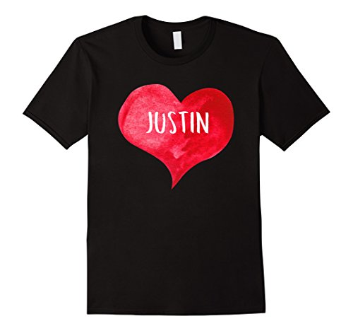 I Love JUSTIN - Love Heart T-shirt, Gift For Valentine's - Girl Store Justin