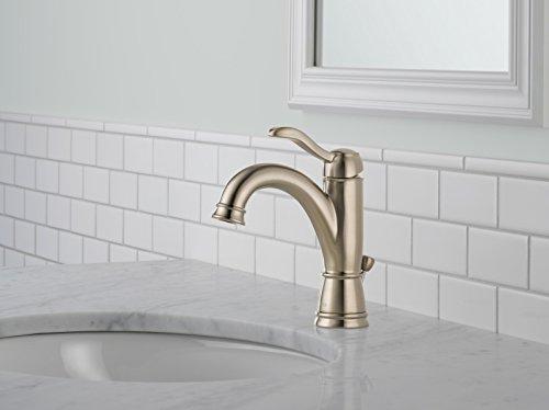 Delta Porter 4 In Centerset 2 Handle Bathroom Faucet With: Delta 15984LF-BN Porter Single Handle Centerset Lavatory