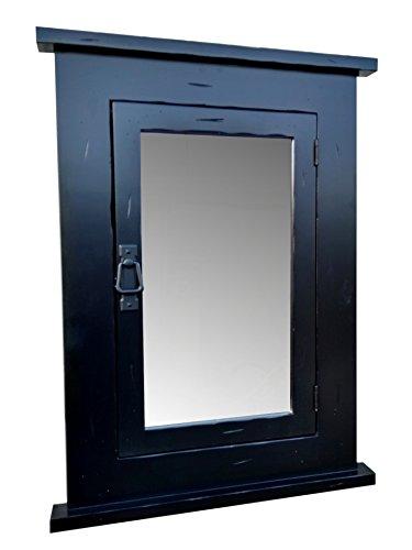 Primitive Black Mission Recessed Medicine Cabinet/Rustic/Solid Wood & Handmade - Mission Medicine Cabinet