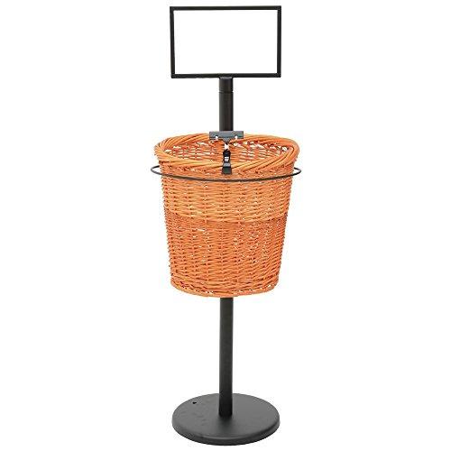 Mobile Merchandisers BS36/1 1-Basket Display Rack for Baguettes - (Baguette Basket)