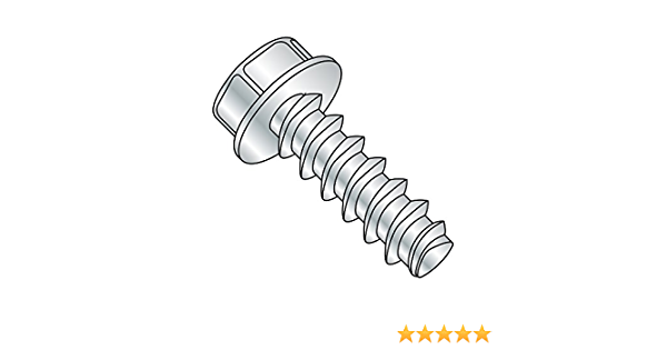 Serrated Hex Washer Head 1-1//4 Length Type F Pack of 25 1//4-20 Thread Size Steel Thread Cutting Screw Slotted Drive Zinc Plated Finish