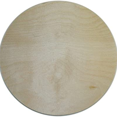 Mpi 10-Inch Unfinished Wood Baltic Birch Plaque, Circle
