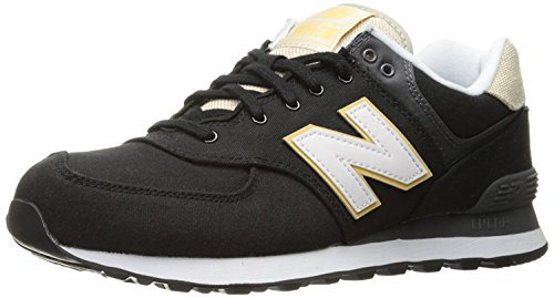 New Balance Mens 574 Retro Surf Lifestyle Fashion Sneaker, Negro/Blanco, 42.5 EU/8.5 UK