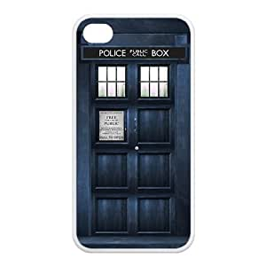 2015 customized Doctor Who RUBBER SILICONE Case for iPhone 4, iPhone 4S,Tardis,Dr Who RUBBER iPhone Case-AZA