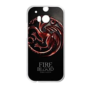 Fire Blood StylishHigh Quality Comstom Plastic case cover For HTC M8