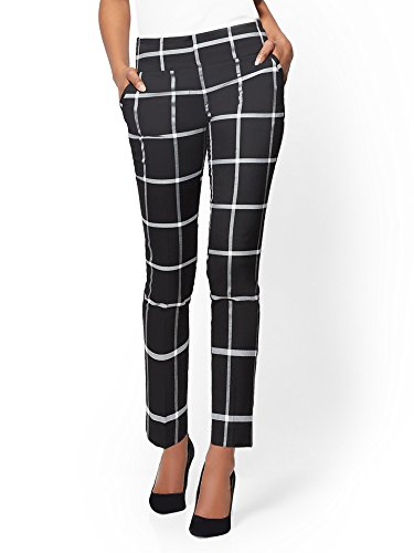 Nice New York & CO. Women's 7Th Avenue Pant - Check Print Ankle - Modern for sale