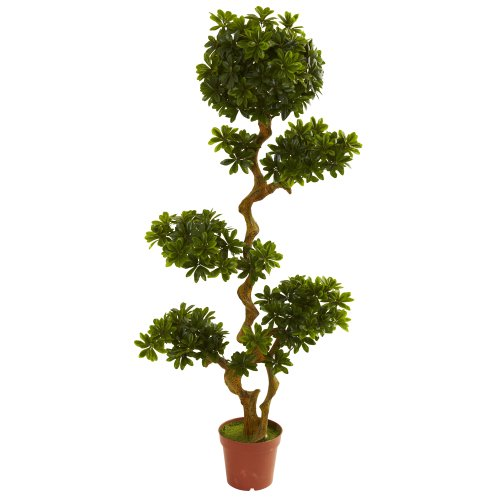 Nearly Natural 5393 Pittispourm UV Resistant Tree, 5-Feet, Green by Nearly Natural