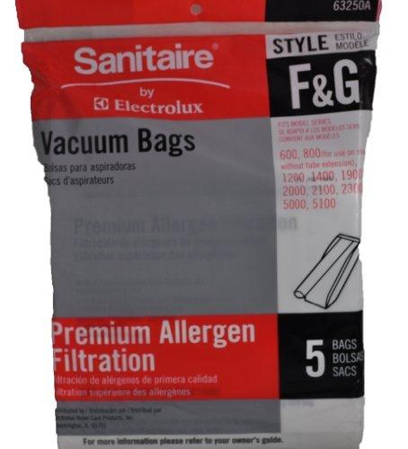 Sanitaire Style F & G Premium Allergen Filtration Vacuum Bags, 5 Per Pack ()
