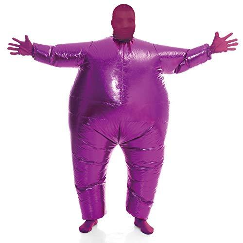 Inflatable Costume Full Body Suit Halloween Costume Adult Size - Metallic Shiny Purple