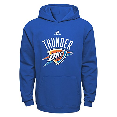 NBA Oklahoma City Thunder Boys 8-20 Primary Logo Fleece Hoodie, Blue, Small