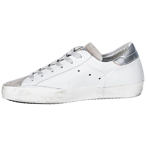 PHILIPPE Women's Paris Leather Shoes Trainers White Sneakers MODEL f7qAwHp