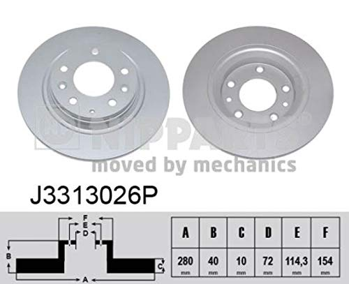 Nipparts j3313026p Bremsscheibe Box Set 2