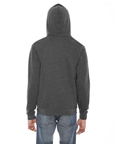 American Apparel Felpa unisex in pile con cappuccio e cerniera lampo Dark Heather Grey X-Large