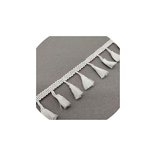 (Beautiful 2 Yards Lace Ribbon Tassel Fringe Cotton Ethnic Lace Trim Ribbon Sewing Latin Dress Stage Garment Curtain Decorative)