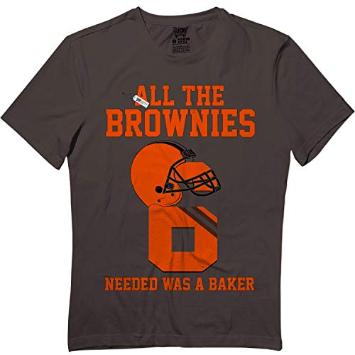 All The Brownies Needed was A Baker Cleveland Jersey Tshirt Dark Chocolate