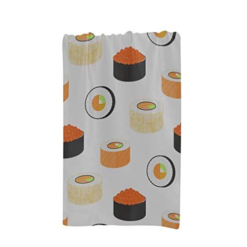 GGKDL Summer Bath Towels California Rolls Wrapped Nori Philadelphia Caviar Custom Microfiber Large Printing 32 X 64 Inches Kids Beach Towel