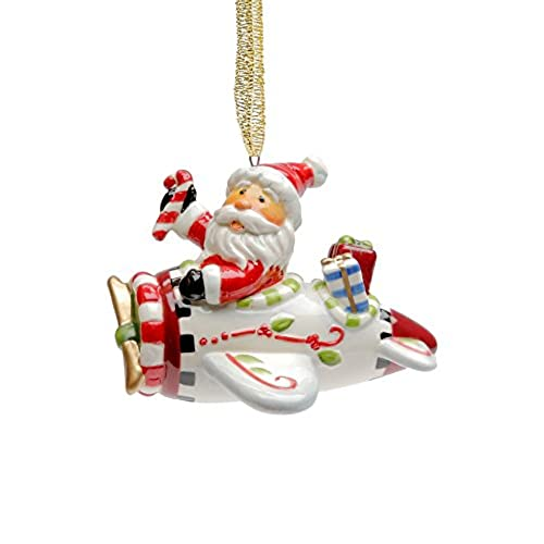 Cosmos Gifts 10648 Santa with Airplane Ornament, 2-1/4-Inch - Airplane Ornament: Amazon.com
