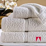 AMERICAN HOTEL REGISTER - Registry ® Platinum (12 Bath Towels). 100% Ring-Spun Cotton, Dobby Border, 27 in x 58 in, White. Usually ships within 1-5 business days unless there is a problem.