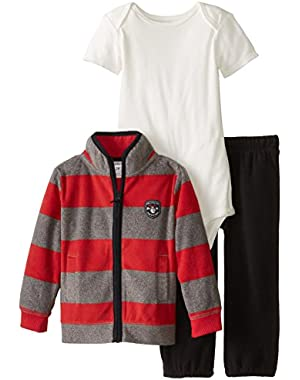 Baby Boys' 3 Piece Cardigan Set (Baby) - Red - 3 Months
