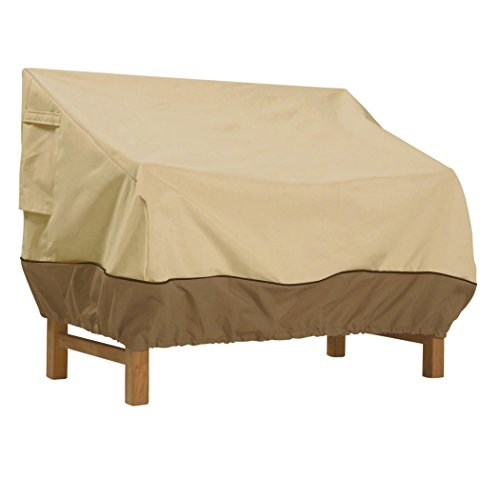 Classic Accessories Veranda Patio Bench Cover - Durable and Water Resistant Patio Set Cover, Medium (55-646-011501-00) (Patio Most Furniture Durable)