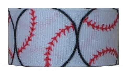 Grosgrain Ribbon Sports 7/8 Inch 2 yards Baseball