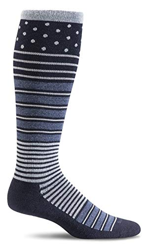 Sockwell Women's Twister Graduated Compression Socks, Navy, Medium/Large