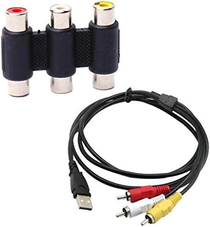 KESOTO HDTV TVテレビスプリッターケーブルアダプター用の3 RCA RGBビデオAV A/VケーブルへのUSB