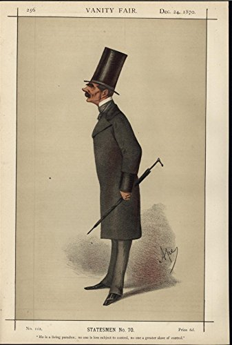 SIr H K Storks Colonial Governor So. Africa 1870 Vanity Fair old color print