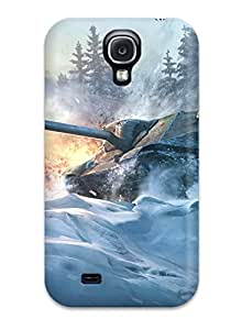 6564522K86428671 New Object 704 World Of Tanks Tpu Case Cover, Anti-scratch Phone Case For Galaxy S4