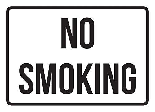 No Smoking No Parking Business Safety Traffic Signs Black - 7.5x10.5 - Plastic by iCandy Products Inc