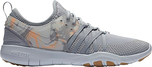 Nike Women's Free TR 7 PRT Training Shoes (Grey/Orange, 8.5)