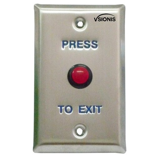 Visionis VIS-7004 Small Red Round Request to Exit Button For