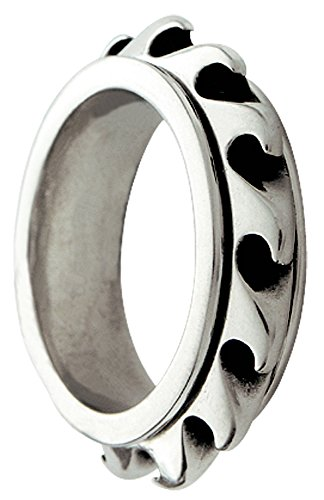 Bico Wave Spinner Spinning Ring (R1 XXXL34 US Size 13) Street Jewelry