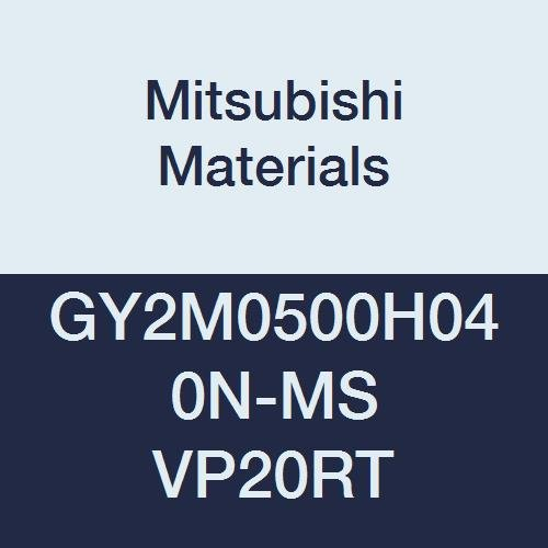 0.016 Corner Radius Mitsubishi Materials GY2M0500H040N-MS VP20RT GY Series Carbide Grooving Insert for Multifunctional and Low Feeds 2 Teeth H Seat 0.197 Grooving Width Pack of 10