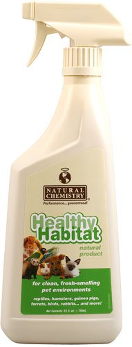 Natural Chemistry Healthy Habitat Cleaner and Deodorizer Reptile & Small Pets , 24 oz (Cage Reptile Habitat)