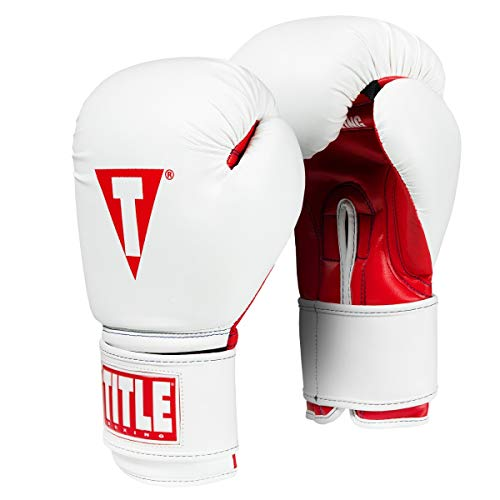 Title Boxing Essential Boxing Gloves, White/Red, 12 ()