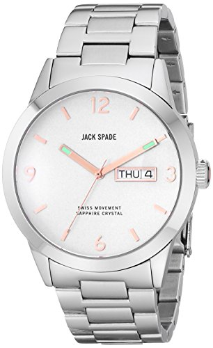 Jack Spade Men's WURU0103 Glenwood Analog Display Swiss Quartz Silver Watch (Jack Spade Watch)