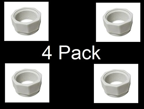 JSP Manufacturing 4 Pack Feed Hose Nut Replacement For Polaris Cleaners 180 280 380 480 D15 D-15