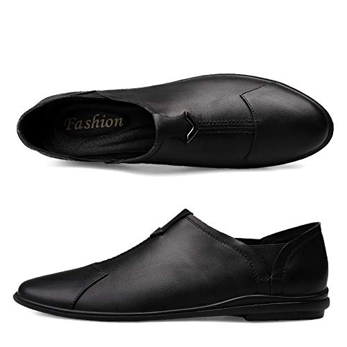 Black 37 HAWEEL Leather Formal Dress shoes, Simple Soft Comfortable Casual Leather shoes for Men (color Black Size 37)