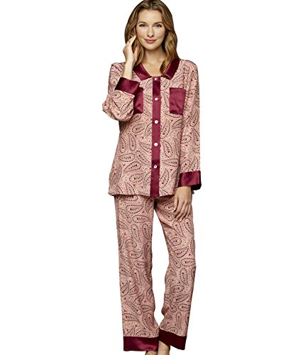 Julianna Rae Women s My Newest Crush 100% Silk Pajamas 9e13520e7