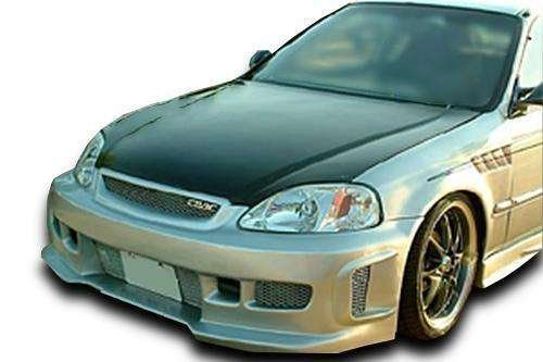 Installation Bumper Kit (Honda Civic ALL 1996-1998 BW Spec Style 1 Piece Polyurethane Front Bumper manufactured by KBD Body Kits. Extremely Durable, Easy Installation, Guaranteed Fitment and Made in the USA!)