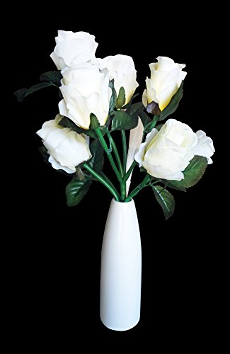 Best Unique LED White Rose Flower Lover Vase Wedding Party Supplies Entertaining Last Minute Unusual Novelty Great Birthday Mother Day Gift Idea Wedding Decorations Her Wife Mother In Law (2)
