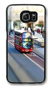 VUTTOO Rugged Samsung Galaxy S6 Edge Case, London Customize Hard Back Case for Samsung Galaxy S6 Edge PC Black