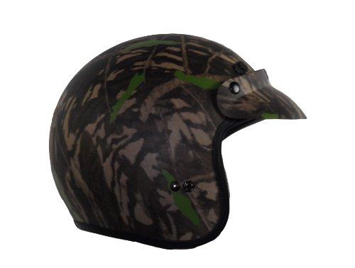 - Raptor Open Face Helmet (Camouflage, X-Large)