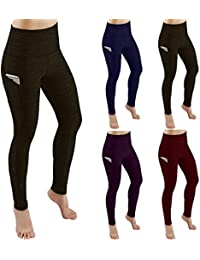 Women Tummy Control Yoga Pants Extra Soft with Pockets Non See-Through High Waist Workout Leggings